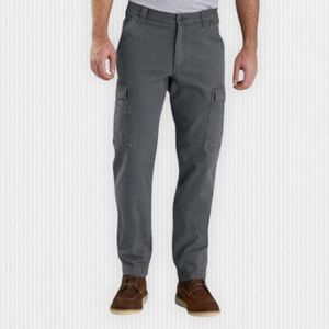 Carharrt Grey Rugged Flex Canvas Relaxed Fit Cargo Pants 33